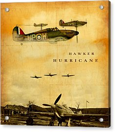 Hawker Hurricane Raf Acrylic Print by John Wills