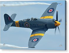 Acrylic Print featuring the photograph Hawker Sea Fury T20 N924g Chino California April 30 2016 by Brian Lockett