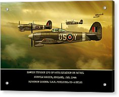 Acrylic Print featuring the digital art Hawker Typhoon Sqn 56 by John Wills