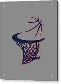 Hawks Basketball Hoop Acrylic Print by Joe Hamilton