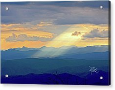 Hawks Bill Mountain Sunset Acrylic Print