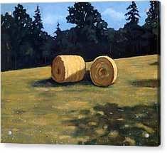 Hay Bales In The Morning Acrylic Print