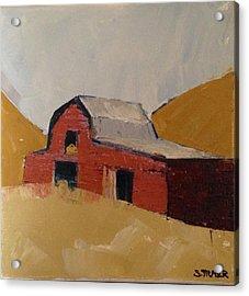 Hay Barn Acrylic Print