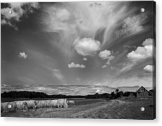 Hay Field And Barn Clarks Lake Road Acrylic Print by Stephen Mack