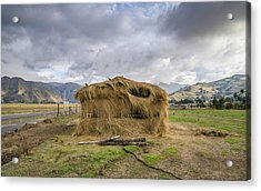 Hay Hut In Andes Acrylic Print