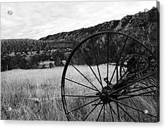 Hay Rake At The Ewing-snell Ranch Acrylic Print by Larry Ricker