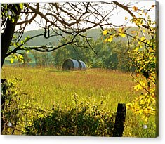 Hay Roll Meadow Acrylic Print