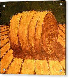 Haybale Acrylic Print by Jaylynn Johnson