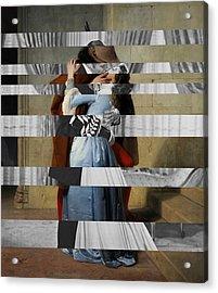 Hayes's The Kiss And Vivien Leigh With Clark Gable Acrylic Print by Luigi Tarini