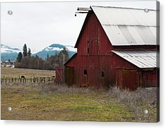 Hayfork Red Barn Acrylic Print