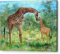Haylee's Giraffes Acrylic Print
