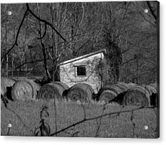 Hayroll Shed 2 Acrylic Print by Michael L Kimble