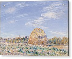 Haystack On The Banks Of The Loing Acrylic Print