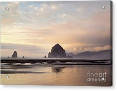 Haystack Rock After The Rain Acrylic Print