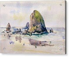 Haystack Rock, Canon Beach, Or Acrylic Print