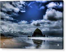 Haystack Rock Acrylic Print by David Patterson