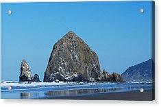 Haystack Rock Acrylic Print