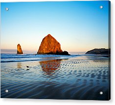 Haystack Rock Acrylic Print by Panoramic Images