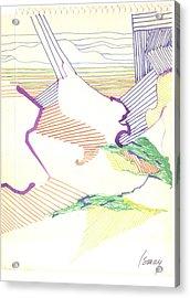 Haystack Acrylic Print by Rod Ismay