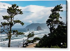 Haystack Views Acrylic Print by Darren White