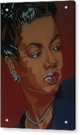 Acrylic Print featuring the painting Hazel Scott by Rachel Natalie Rawlins