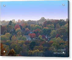 Hazy Autumn Acrylic Print