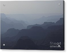 Acrylic Print featuring the photograph Hazy Canyon by Erica Hanel