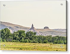 Acrylic Print featuring the photograph Hazy Chimney Rock by Sue Smith