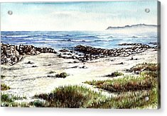 Acrylic Print featuring the painting Hazy Coastline by Heidi Kriel