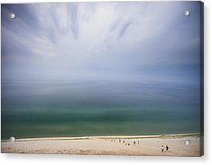 Hazy Day At Sleeping Bear Dunes Acrylic Print by Adam Romanowicz