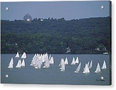 Hazy Day Regatta - Lake Geneva Wisconsin Acrylic Print