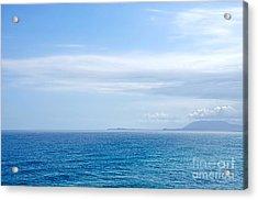 Hazy Ocean View Acrylic Print by Kaye Menner