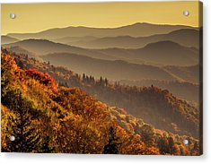 Hazy Sunny Layers In The Smoky Mountains Acrylic Print