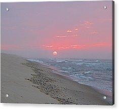 Acrylic Print featuring the photograph Hazy Sunrise by  Newwwman