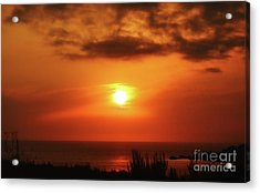 Hazy Sunset In Golden Bay Acrylic Print by Stephan Grixti