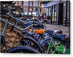 Hdr Bikes Acrylic Print by David Warrington