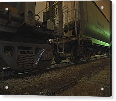 Hdr Rail Cars Acrylic Print by Scott Hovind