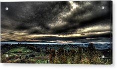 Hdr Tuscany Sunset Acrylic Print by Andrea Barbieri