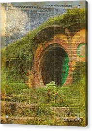 he Bag End Hobbit House Lord of the Rings Shire Illustration Dictionary Art Acrylic Print