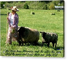 Acrylic Print featuring the painting He Calls His Own Sheep By Name by Anastasia Savage Ealy