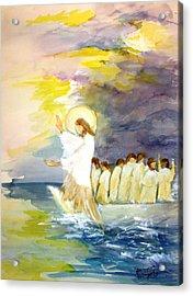 He Calms The Waters Acrylic Print by Mary Spyridon Thompson