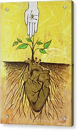 Acrylic Print featuring the painting He Cultivates Our Hearts by Nathan Rhoads