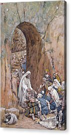 He Did No Miracles Save That He Healed Them Acrylic Print by Tissot