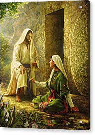 Acrylic Print featuring the painting He Is Risen by Greg Olsen