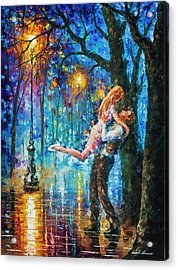 He Proposal  Acrylic Print by Leonid Afremov