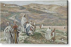 He Sent Them Out Two By Two Acrylic Print by Tissot