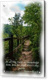He Shall Direct Thy Paths Acrylic Print by Joann Copeland-Paul