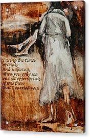 He Walks With Me - Footprints 2 Acrylic Print by Jani Freimann