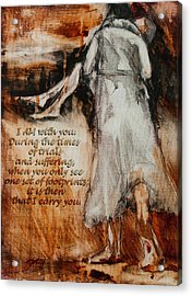 I Am With You - Footprints Acrylic Print by Jani Freimann