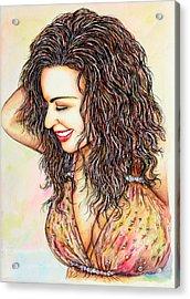 Head 2toe 2 Blouse Acrylic Print by Joseph Lawrence Vasile